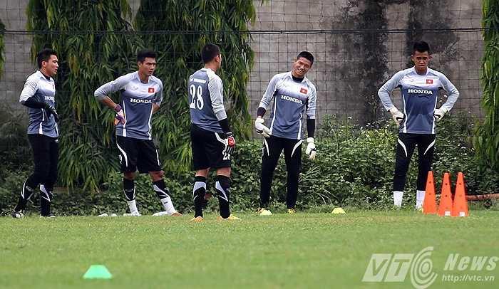 Các thủ môn của đội U23 (Ảnh: Quang Minh)