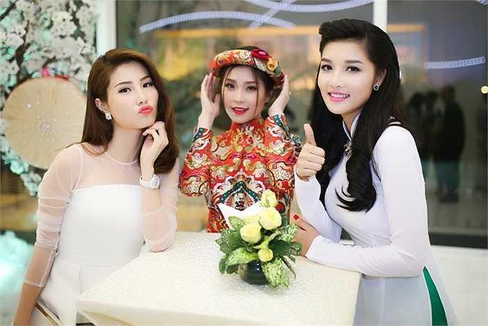 Á hậu Diễm Trang, người đẹp Diễm My đọ sắc cùng Triệu Thị Hà.