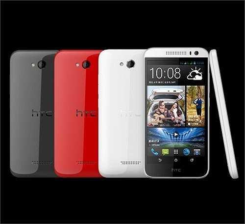 3. HTC Desire 616: Thuộc phân khúc tầm trung, Desire 616 có thiết kế khá giống smartphone cao cấp của HTC One nhưng vỏ ngoài lại bằng nhựa. Thiết bị còn hỗ trợ 2 SIM mang lại nhiều tiện ích hơn cho người dùng, giá tham khảo: 3,9 triệu đồng.