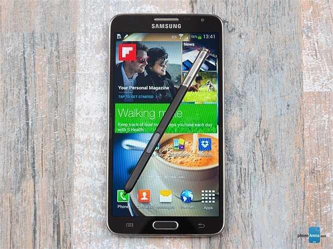 6. Samsung Galaxy Note 3 Neo Duos: Đây là một lựa chọn hàng đầu cho những ai đang muốn tìm kiếm một chiếc điện thoại màn hình lớn hỗ trợ 2 sim. Là phiên bản thu nhỏ của chiếc Galaxy Note 3 sở hữu cấu hình mạnh mẽ, màn hình rộng 5,5 inch với độ phân giải HD cho chất lượng hình ảnh hiển thị rất sắc nét và sống động.