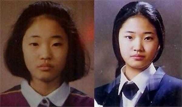 Kim Sa Rang - Hoa hậu Hàn Quốc năm 2000 - khiến người hâm mộ bất ngờ khi những bức ảnh thời còn đi học được đăng tải.