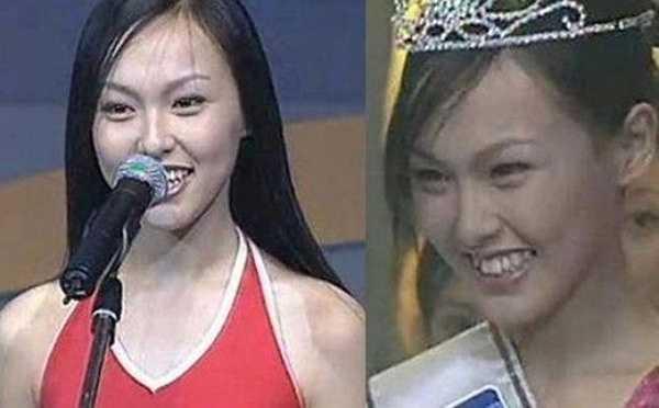 Trong loạt ảnh này có thể thấy Đường Yên năm 18 tuổi có gương mặt khá bình thường với đôi mắt nhỏ và răng khấp khểnh.