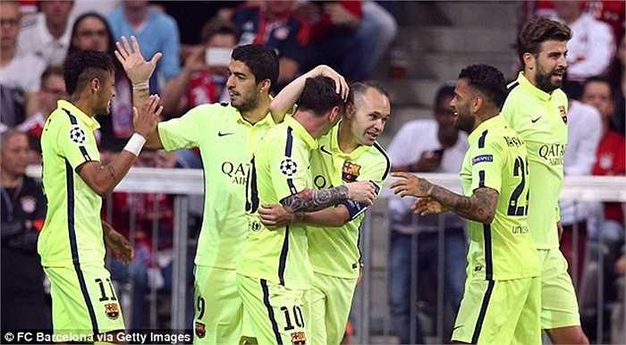 Vượt qua Bayern Munich một cách thuyết phục, Barca lần thứ 4 vào chung kết ở kỷ nguyên Champions League