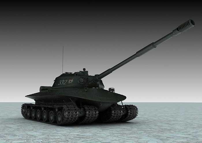 Xe tăng này có thể được coi là biểu tượng của cuộc dọa dẫm 'chiến tranh hạt nhân' thời Chiến tranh lạnh cách đây nửa thế kỷ. Mục đích chế tạo ra nó là để chiến đấu trên trận địa có thể bị kẻ địch ném bom hạt nhân.