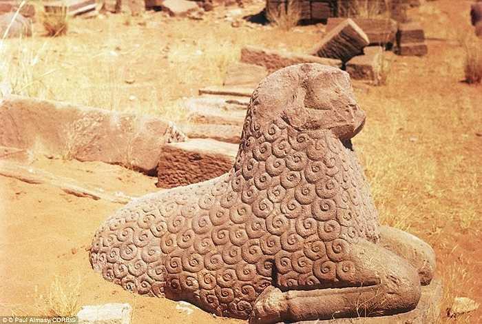Một bức tượng có từ thế kỷ thứ nhất trước Công nguyên trong quần thể di tích