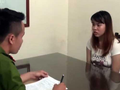 Nguyễn Thanh Thủy tại cơ quan điều tra CAQ Tây Hồ