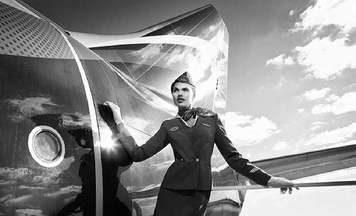 Nét thời trang của bộ đồng phục hãng Aeroflot