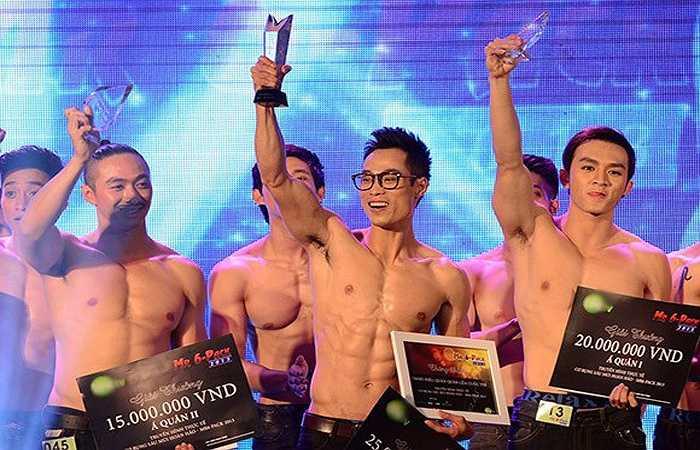 Ngôi vị quán quân cuộc thi Mr.6 Pack 2013 đã thuộc về Nguyễn Huy Ngọc.