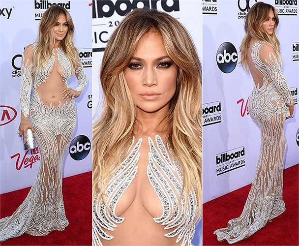 Jennifer Lopez diện váy xuyên thấu của Charbel Zoe.