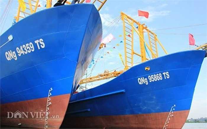 Đây là tàu cá vỏ thép thứ 2 và 3 của ngư dân Quảng Ngãi.