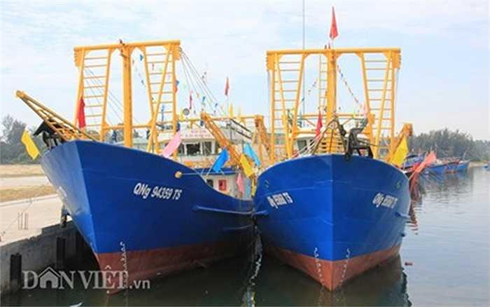 Tàu cá vỏ thép này hành nghề lưới vây kiêm chụp mực. Mỗi tàu có độ dài 26m, rộng 7m, cao 3,4m, công suất 811 CV/tàu.