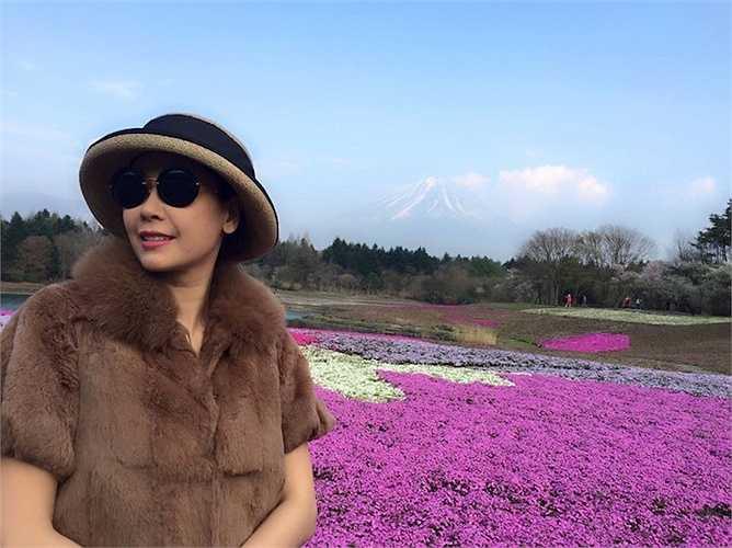 Mới đây nhất, Hoa hậu họ Hà vừa có chuyến đi Nhật ngắm núi Phú Sĩ.