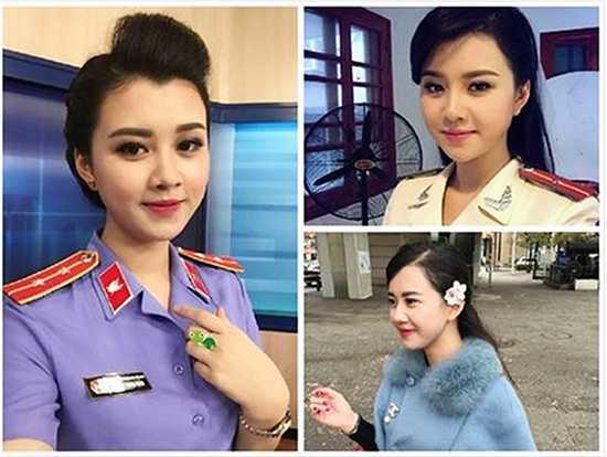 Cộng đồng mạng chia sẻ loạt ảnh của một nữ công an diện đồng phục ngành với gương mặt xinh như hot girl.
