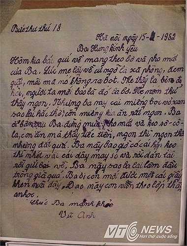 Một bức thư được viết trong thời kỳ bao cấp.