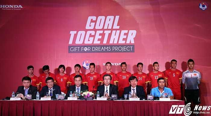 Đây là năm thứ 3, Honda Việt Nam tài trợ cho các đội tuyển quốc gia. (Ảnh: Phạm Thành)