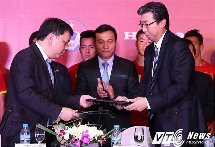 Honda hứa thưởng mỗi cầu thủ U23 Việt Nam một chiếc xe máy nếu vô địch SEA Games. (Ảnh: Phạm Thành)