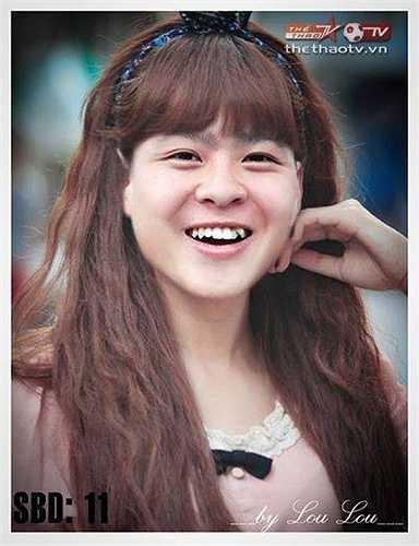Cầu thủ của Hà Nội T&T có chiếc răng khểnh rất duyên.