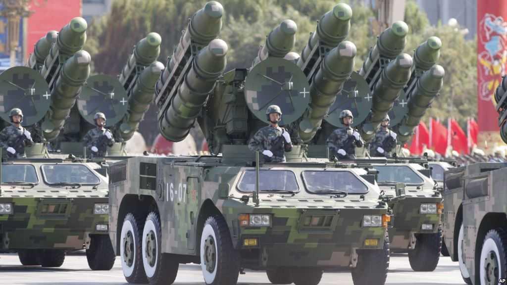 Tên lửa Trung Quốc diễu qua quảng trường Thiên An Môn