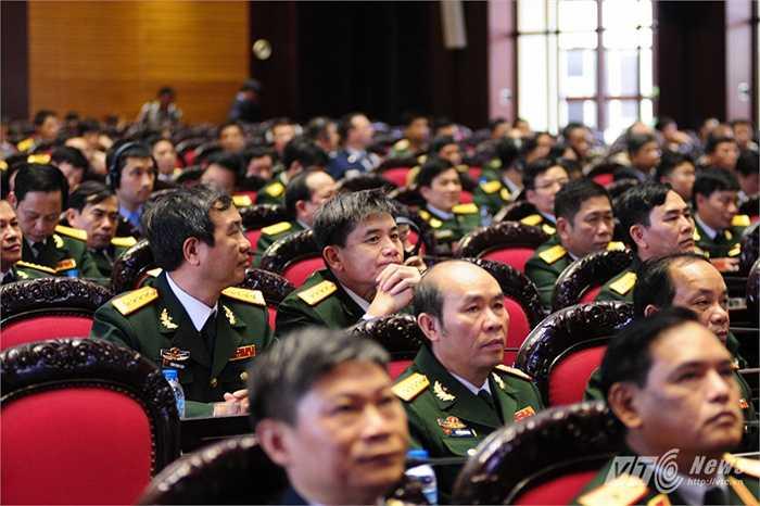 Các đại biểu tham dự hội nghị tổng kết 1 năm Việt Nam tham gia hoạt động gìn giữ hòa bình của Liên Hợp Quốc (Tùng Đinh/Thực hiện)