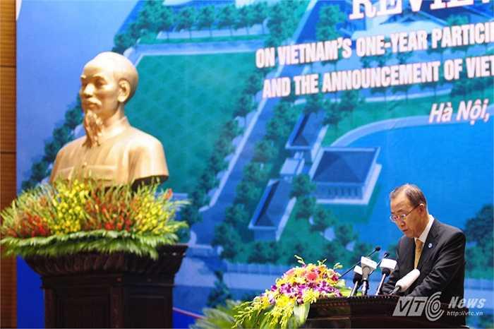 Tổng thư ký Ban Ki Moon phát biểu trong hội nghị tổng kết