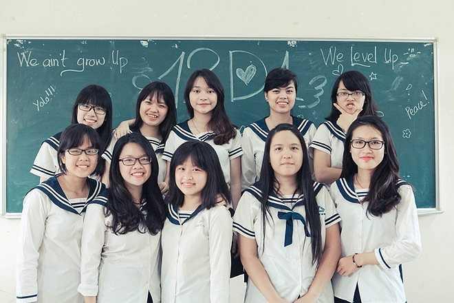 Nữ sinh lớp 12 xinh xắn trong ngày chia tay cuối cấp.
