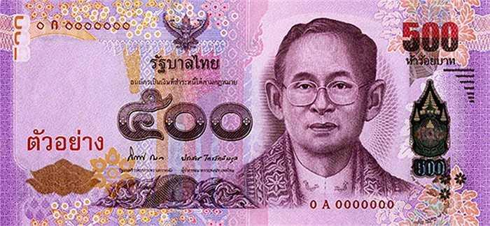 Tờ 500 baht của Thái Lan.