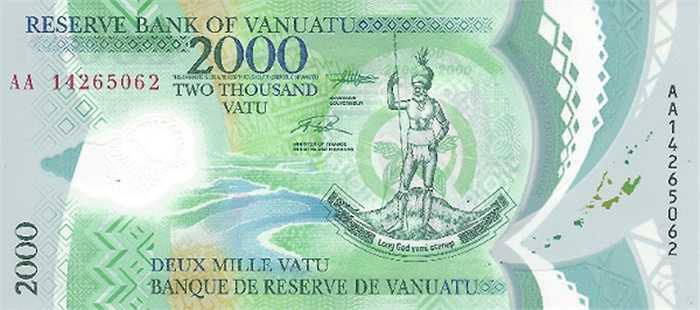Tờ 2.000 vatu của Vanuatu.