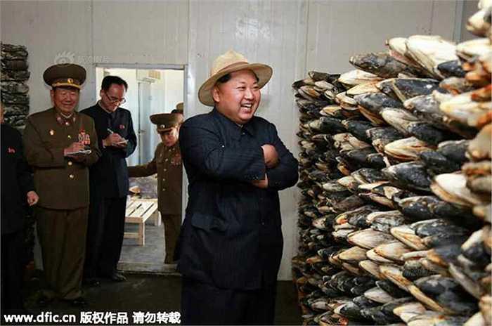Ông Kim Jong-un đến thăm trang trại cá của quân đội