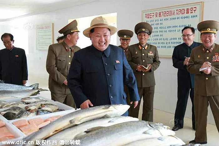 Nhà lãnh đạo Triều Tiên tỏ ra khá vui vẻ