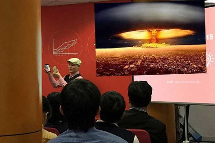 CEO Nguyễn Tử Quảng của Bkav vốn nổi tiếng với những phát ngôn đầy tự tin và nhiệt huyết, nhưng lại bị cộng đồng mạng cho là 'nổ', 'quăng bom'.
