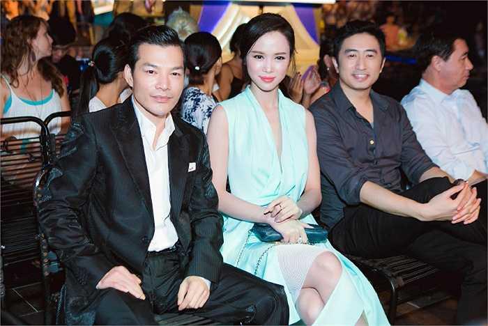 Trần Bảo Sơn và Ngọc Anh trên hàng ghế khán giả.