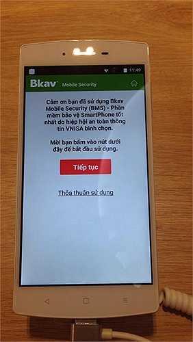 Phần mềm bảo mật smartphone được tích hợp sẵn trong Bphone