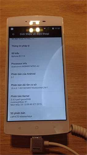 Máy sử dụng hệ điều hành BOS được tùy biến trên Android 5.1