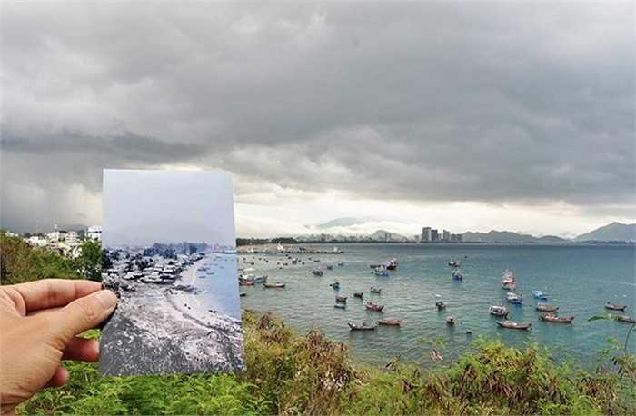 Bức ảnh tư liệu của Alfred Eisenstaedt chụp bãi biển thơ mộng của Nha Trang năm 1968 và hình ảnh về nó gần 5 thập niên sau đó