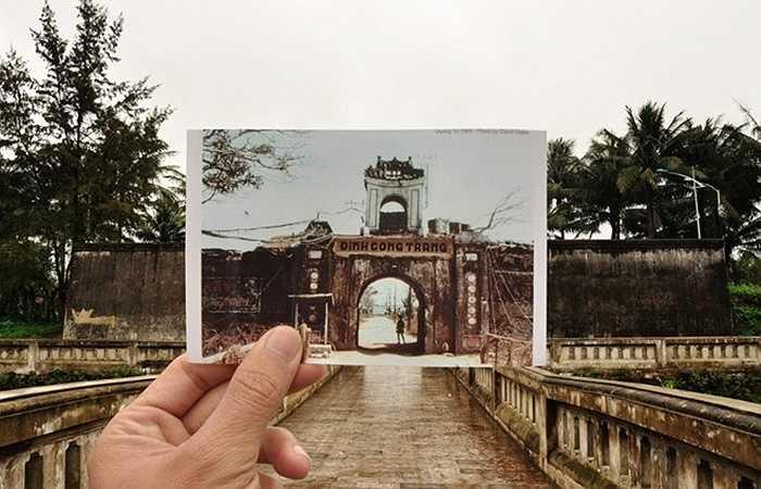 Ảnh chụp thành cổ Quảng Trị năm 1968 và hiện trạng di sản ngày nay