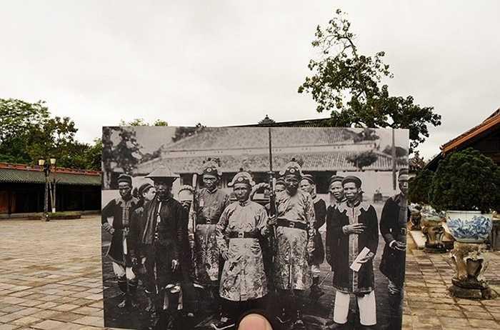 Lính gác nơi kinh đô triều Nguyễn những năm 1910