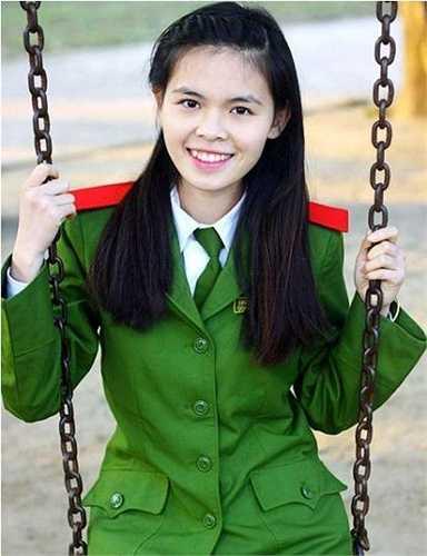 Tài năng, xinh đẹp, Đinh Thị Diệu Ngọc hiện là nữ sinh năm cuối trường Cao đẳng Cảnh sát Nhân dân I.
