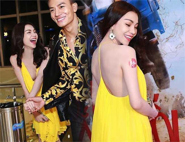 Trà Ngọc Hằng khoe da trắng, dáng xinh với váy vàng 70 triệu đồng của Chloe.