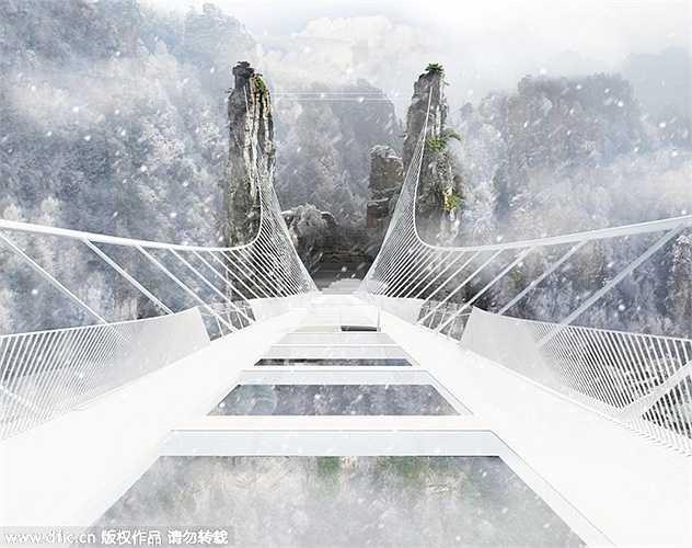 Đây chắc chắn sẽ là một điểm tham quan du lịch hút khách ở thành phố Trương Gia Giới, tỉnh Hồ Nam, Trung Quốc sau khi cây cầu này chính thức đưa vào sử dụng từ tháng 7 tới.