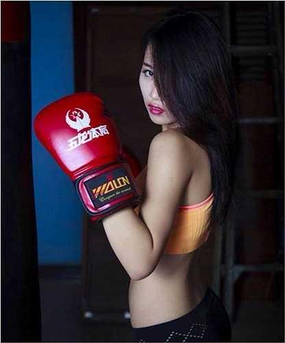 Boxing girl có những nét trong trẻo, dịu dàng của thiếu nữ.