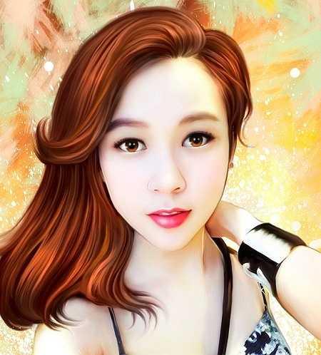 Hưng cho hay, cho đến hiện tại, cậu có hơn 100 tác phẩm vẽ bằng chuột máy tính, trong đó có chân dung của khách hàng đặt và các hình ảnh sao Việt. Ảnh trên là hot girl Sam (Nguyễn Trà My).