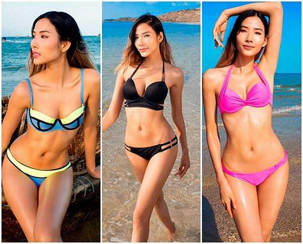 Hoàng Thùy khiến người hâm mộ sửng sốt với thân hình gợi cảm khi mặc bikini.
