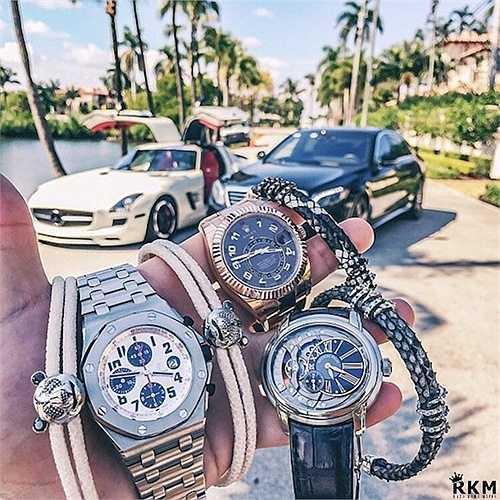 Ngoài là thú vui sưu tập, những chiếc 'siêu đồng hồ' cũng là một loại phụ kiện thời trang yêu thích với phong cách 'tông xuyệt tông' của các thiếu gia.