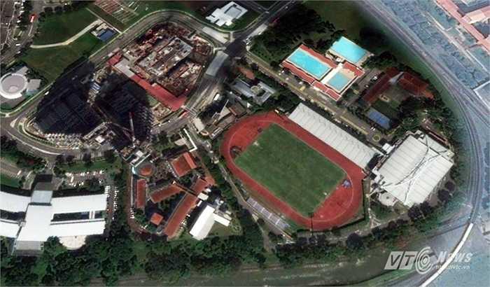 Bishan được sử dụng để thi đấu môn bóng đá ở SEA Games 28. Và chiều nay, U23 Việt Nam sẽ có trận mở màn gặp U23 Brunei trên sân đấu này.