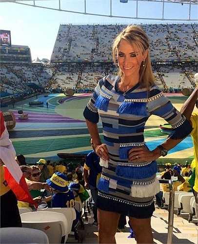 Cô từng được xem là phóng viên đẹp nhất World Cup 2014