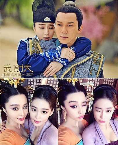 Bộ phim Võ Tắc Thiên gây sốt thời gian vừa qua có sự tái ngộ của cả 3 gương mặt Lý Thần - Phạm Băng Băng và Trương Hinh Dư. Ở hậu trường, Phạm Băng Băng và Trương Hinh Dư tỏ ra khá thân thiết.