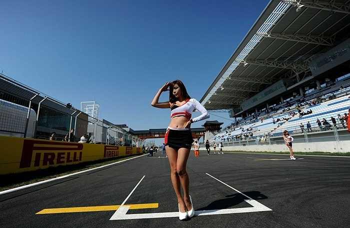 Người mẫu trên đường đua F1 Hàn Quốc