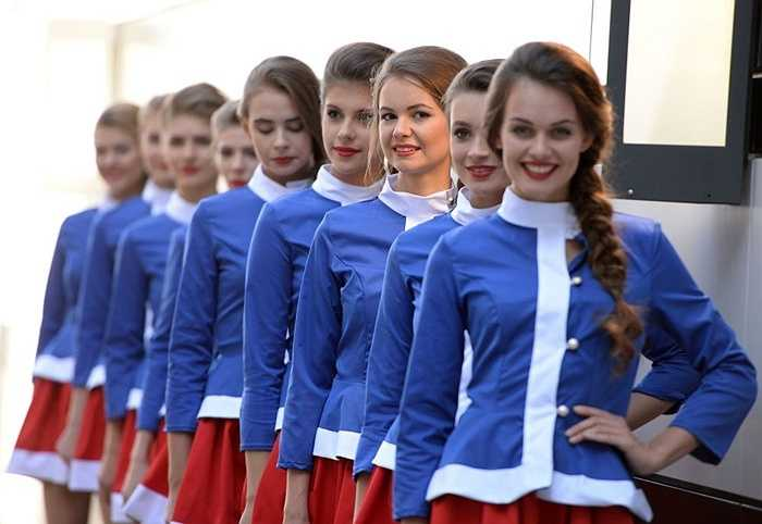 Các người mẫu đua F1 tại Nga