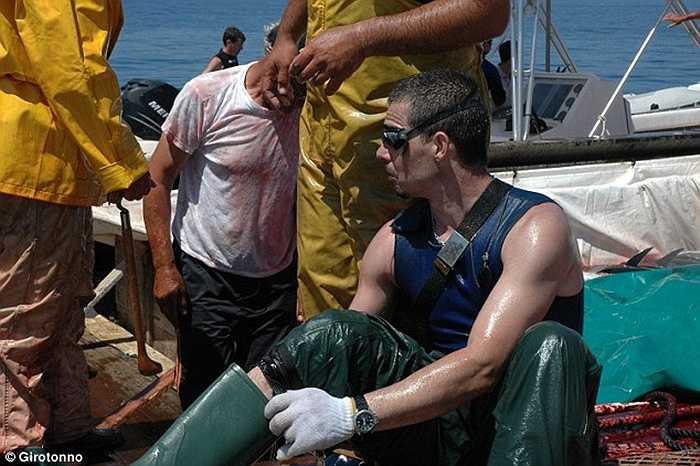 Chuẩn bị đồ bảo hộ để xuống nước