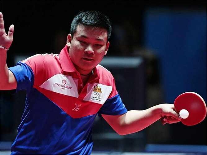 Tay vợt Sok Lim của Campuchia.